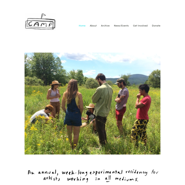 CAMP (Collaborative Arts Mobility Project) is an annual, roving residency for artists working across media. For one week each summer, a group of artists meet in a new, remote location to focus on practice, share ideas and learn from each other.