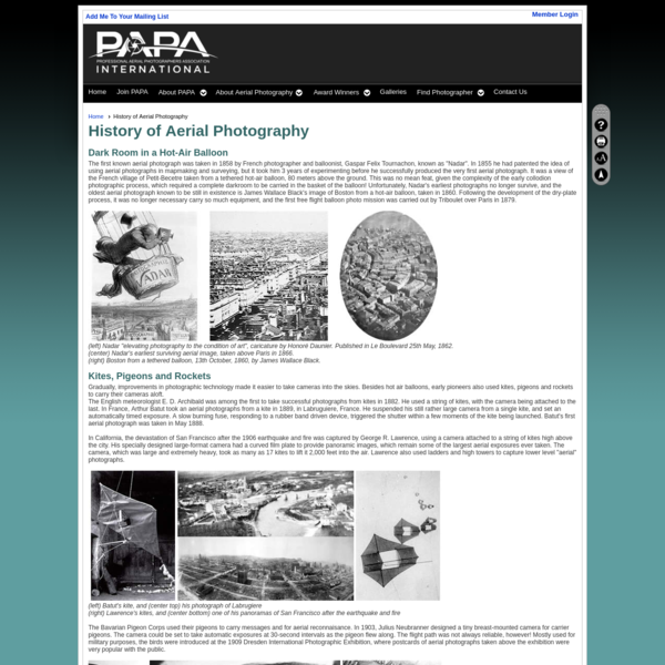 History of Aerial Photography - Professional Aerial Photographers Association Intl