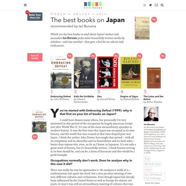 The Best Books on Japan | Five Books Expert Recommendations