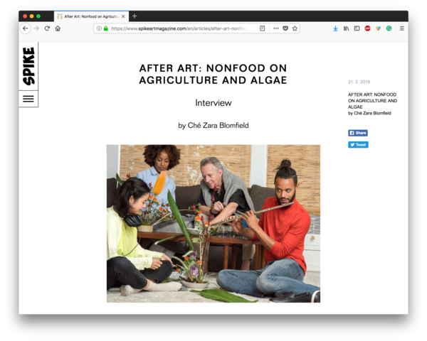 After Art: Nonfood on Agriculture and Algae