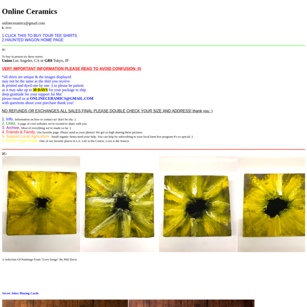 Online Ceramics Home Page