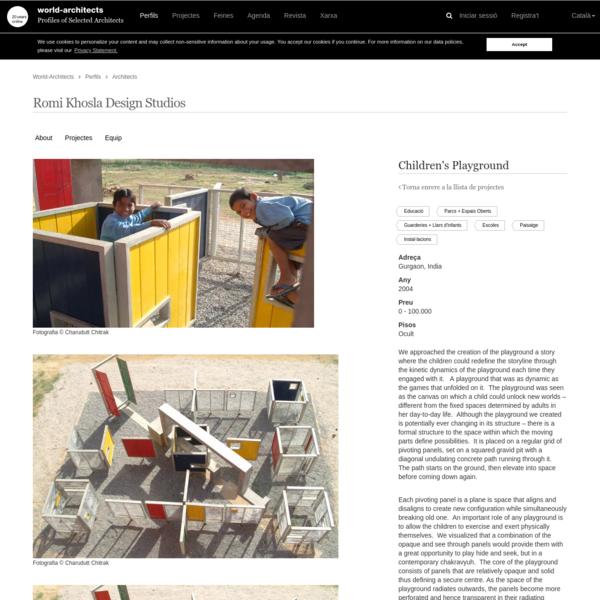 Children's Playground Romi Khosla Design Studios