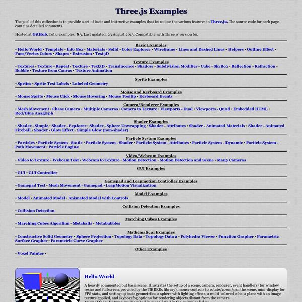 Three.js - examples