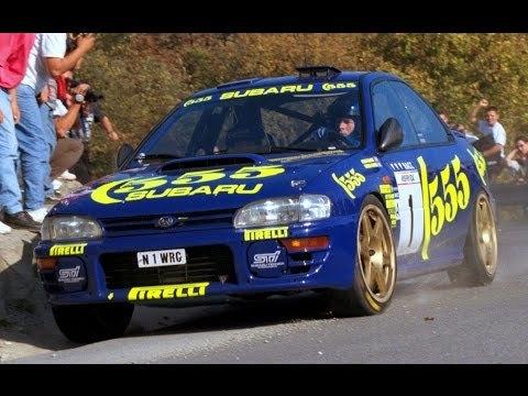 Colin McRae and the 1996 Subaru Impreza 555 Rally car