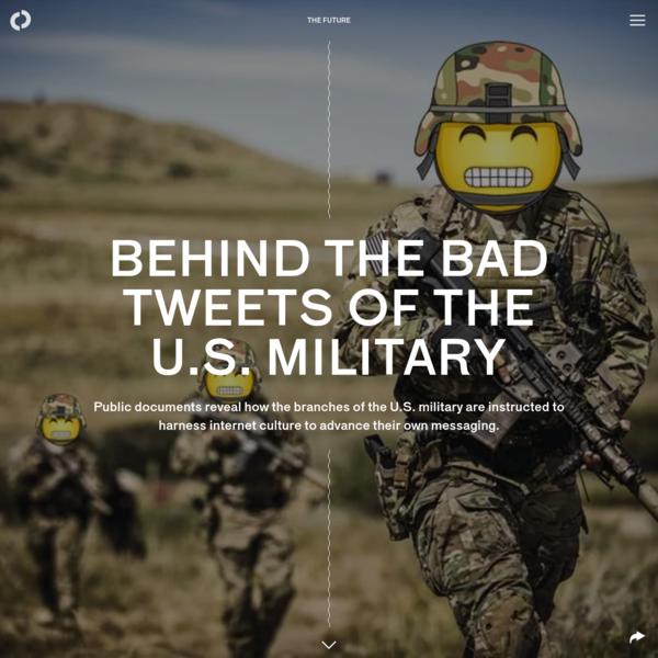 Behind the bad tweets of the U.S. military