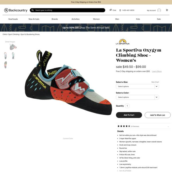 Oxygym Climbing Shoe - Women's