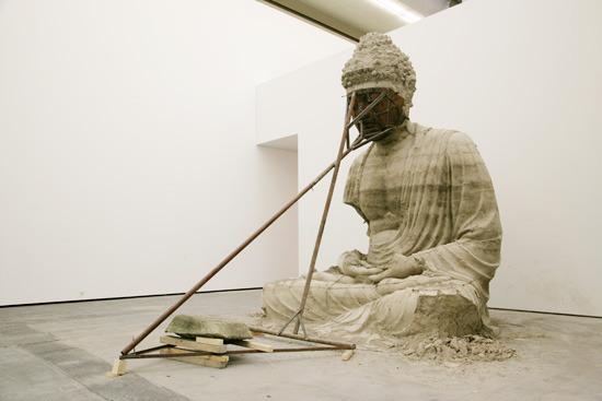 Zhang Huan, Ash Buddha, 2007