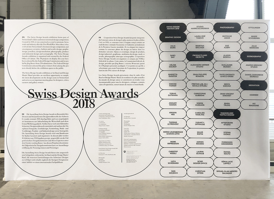 Swiss Design Awards 2018