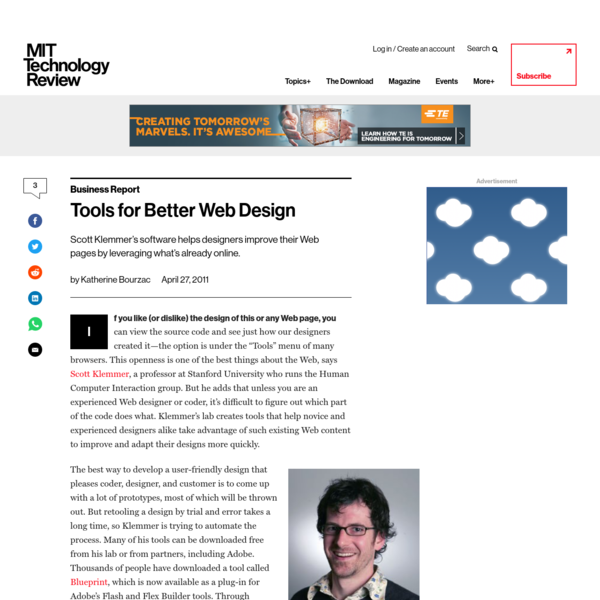 Tools for Better Web Design