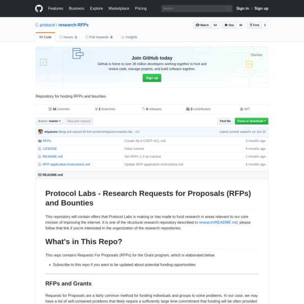 research-RFPs - Repository for hosting RFPs and bounties