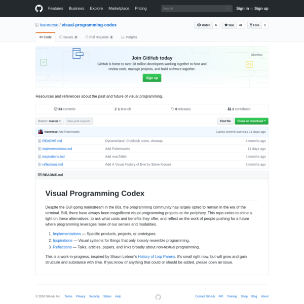 visual-programming-codex - Resources and references about the past and future of visual programming.