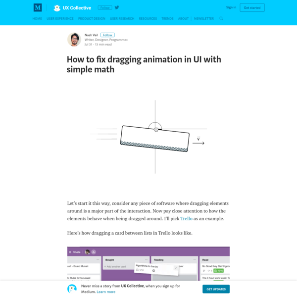 How to fix dragging animation in UI with simple math