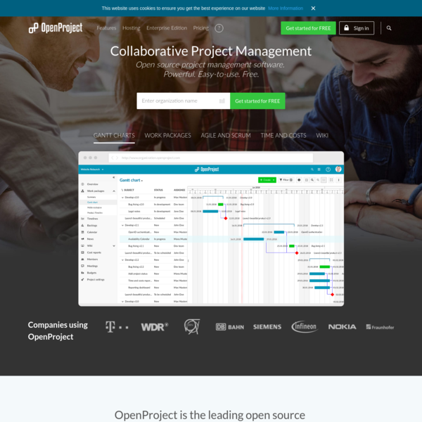 OpenProject - online project management software - free and open source