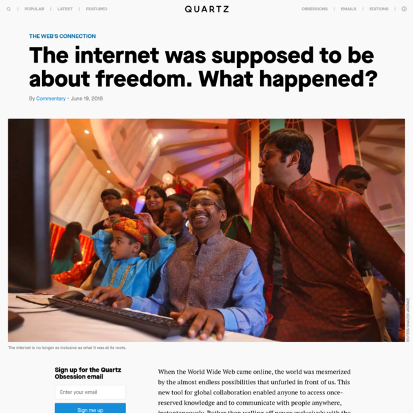 When the World Wide Web came online, the world was mesmerized by the almost endless possibilities that unfurled in front of us. This new tool for global collaboration enabled anyone to access once-reserved knowledge and to communicate with people anywhere, instantaneously.