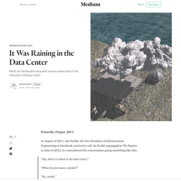 It Was Raining in the Data Center - Member Feature Stories - Medium