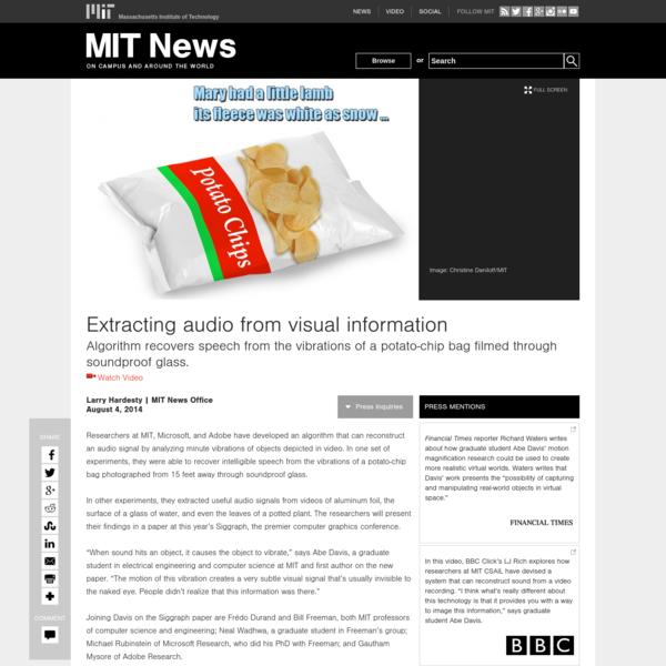 Extracting audio from visual information