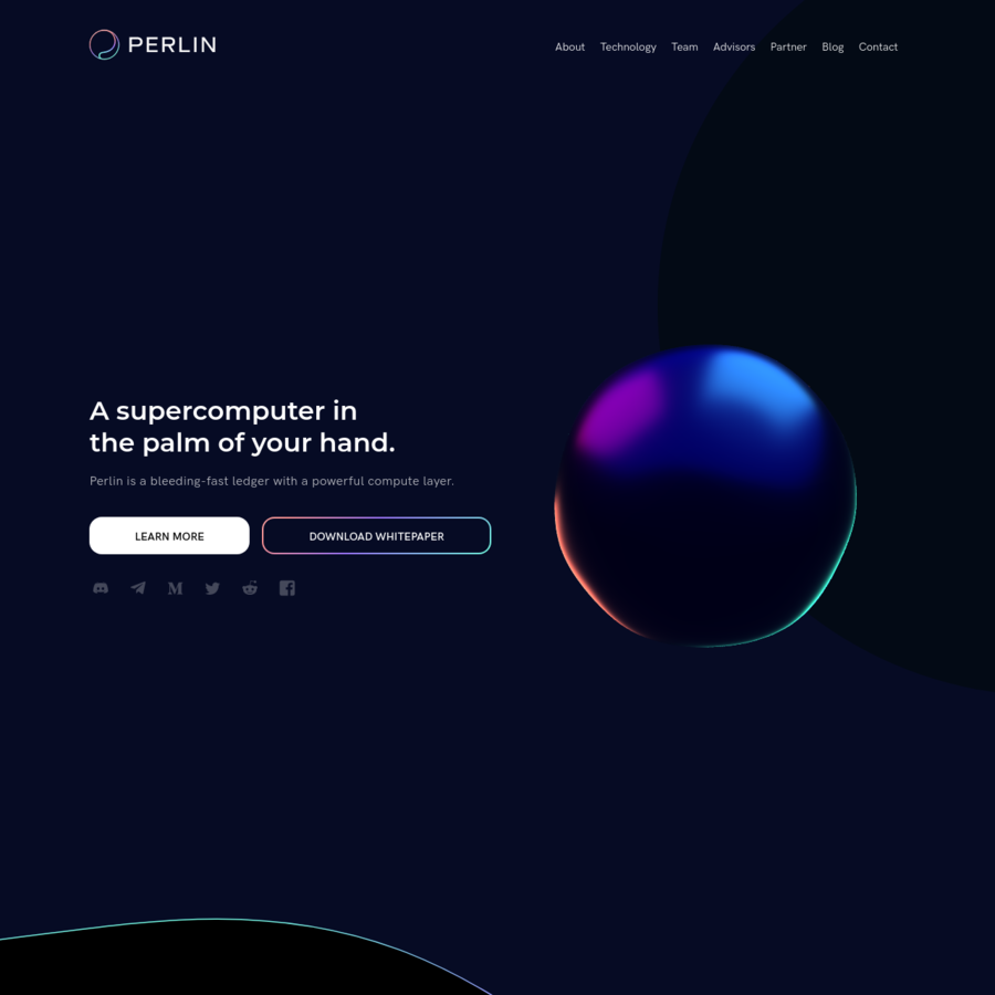 Perlin is the first practical, trustless and decentralized cloud computing marketplace that leverages underutilized compute power in everyday smart-devices to make supercomputing economically viable and accessible globally.