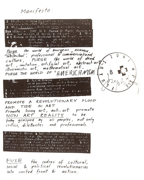 Fluxus Manifesto, 1963, by George Maciunas