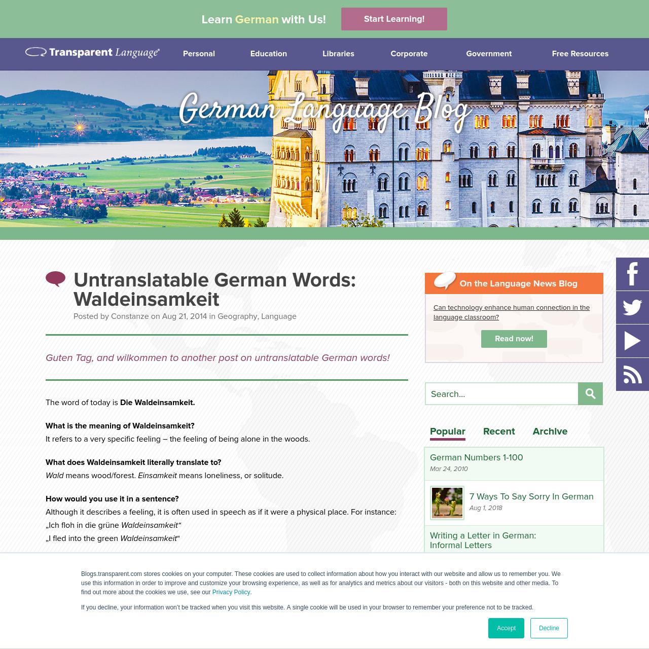 Are na / Untranslatable German Words: Waldeinsamkeit
