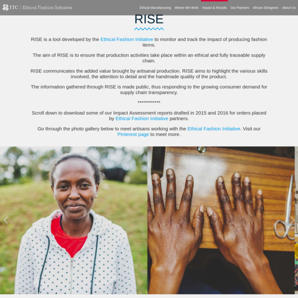 Ethical Fashion Initiative | Impact and results