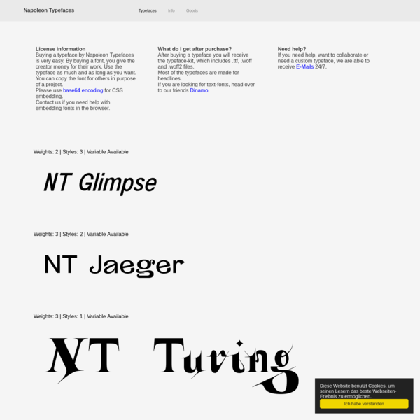 Developing typefaces since 2011, we have gained a lot of knowledge in typedesign. By pushing boundaries we will always find the best solution for every project that includes typedesign. In collaboration with a lot of graphicdesigners, we know how to reach every destination.