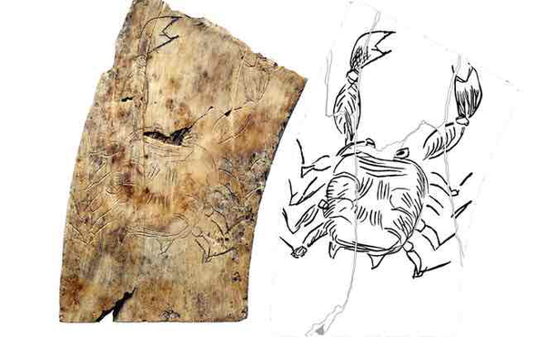 """Oldest known horoscope consultation board or """"pinax,"""" (meaning """"board,"""" """"table,"""" or """"tablet""""), which was used by placing stones on the board to indicate the positions of the planets."""