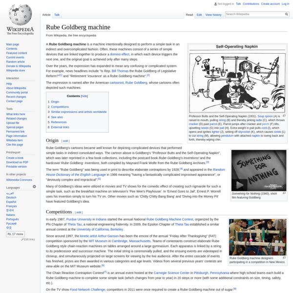 Rube Goldberg machine - Wikipedia