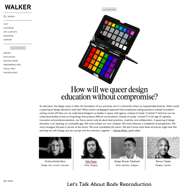"""""""Early queer zinesters tasked the images they reproduced to do what the originals wouldn't: to go further, to risk more, to perform new work. I argue for this reproductive action as a model for the queering of design pedagogy,"""" writes designer Nate Pyper."""