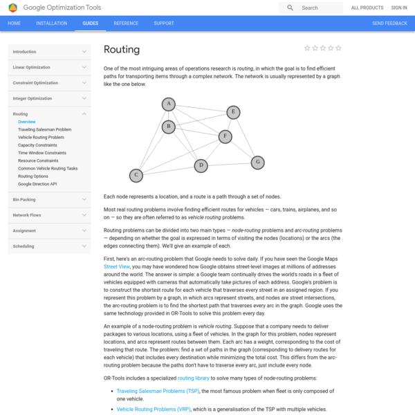 Routing | Optimization | Google Developers