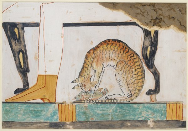 wall painting from private tomb 52 of Nakht, Thebes by Nina de Garis Davies