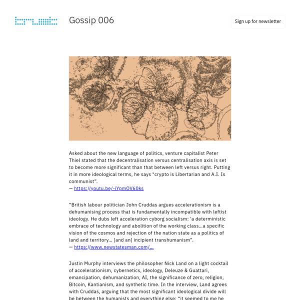 Gossip 006 - (in)humanism rising