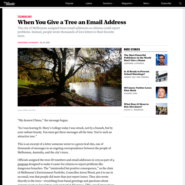 People Are Writing Thousands of Emails to Trees
