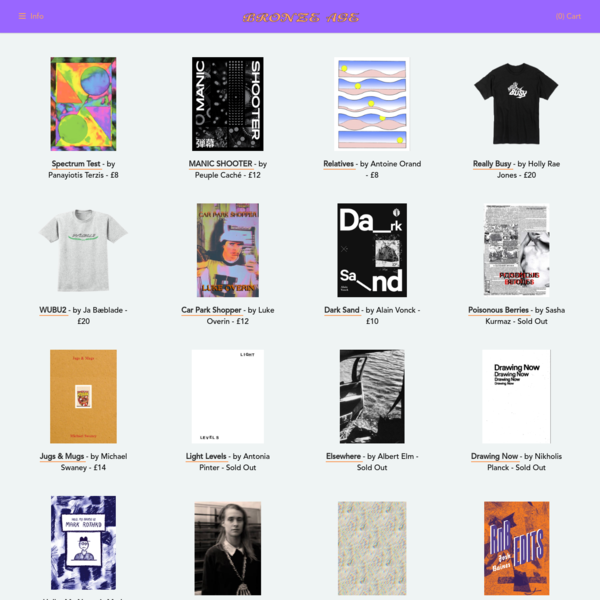Bronze Age Editions is an independent publishing platform specialising in zines, artist's books, & limited run editions.
