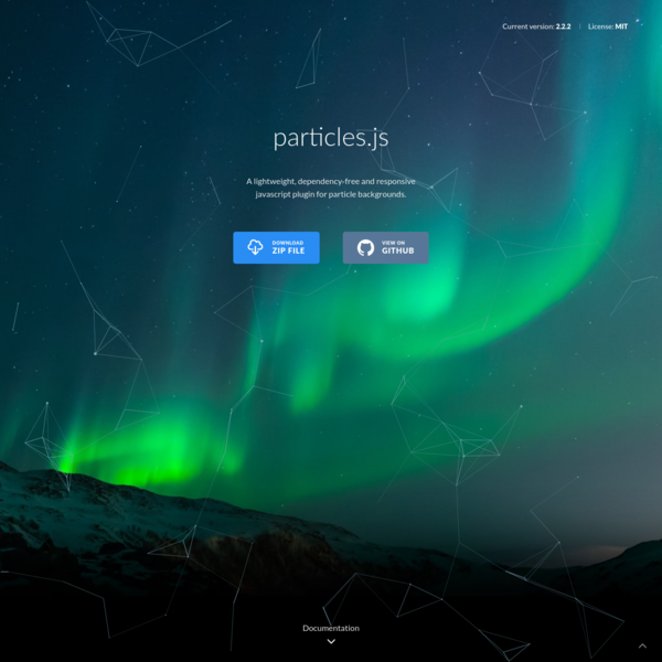 A lightweight, dependency-free and responsive javascript plugin for particle backgrounds.