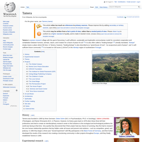 Tamera - Wikipedia