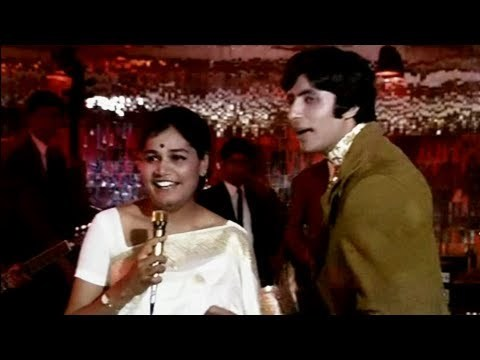 A lilting number from the movie 'Bombay To Goa' where all the characters are together in a bus. Starring Amitabh Bachchan, Aruna Irani, Shatrughan Sinha, Mehmood. Directed by S. Ramanathan. Music by R. D. Burman.
