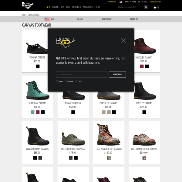 Shop Canvas Footwear on the official Doc Martens website. Check out popular Dr. Martens styles like the Winona Shoe, Santanita Shoe, and Rozarya Boot in a variety of leathers, textures and colors.