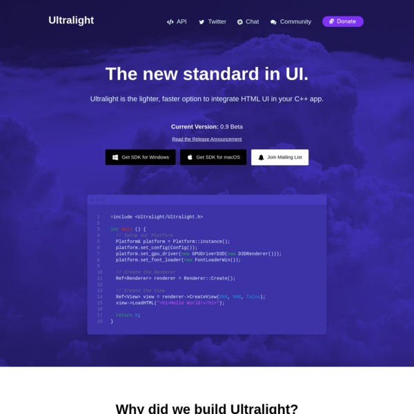 Ultralight: HTML UI Engine