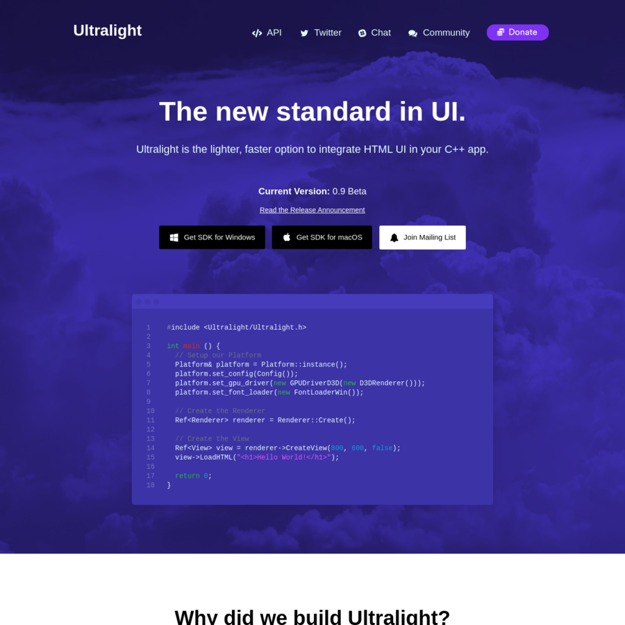 Ultralight: HTML UI Engine