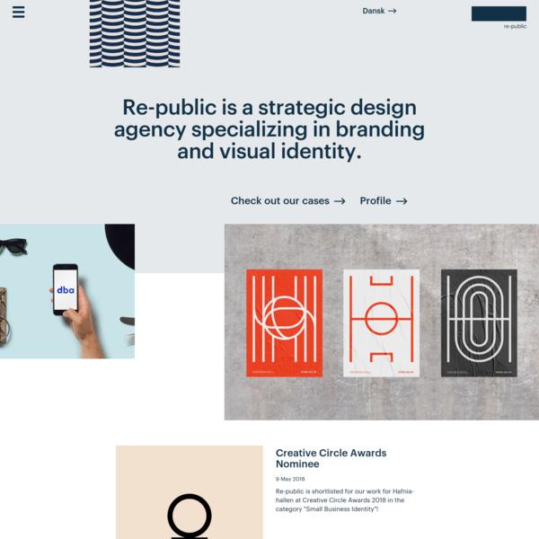 Re-public - Visual identity, communication and digital design