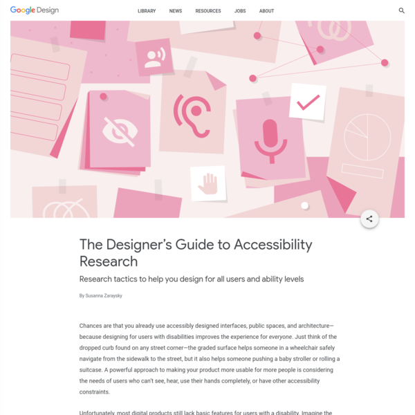 The Designer's Guide to Accessibility Research