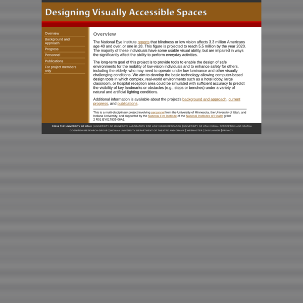 Designing Visually Accessible Spaces