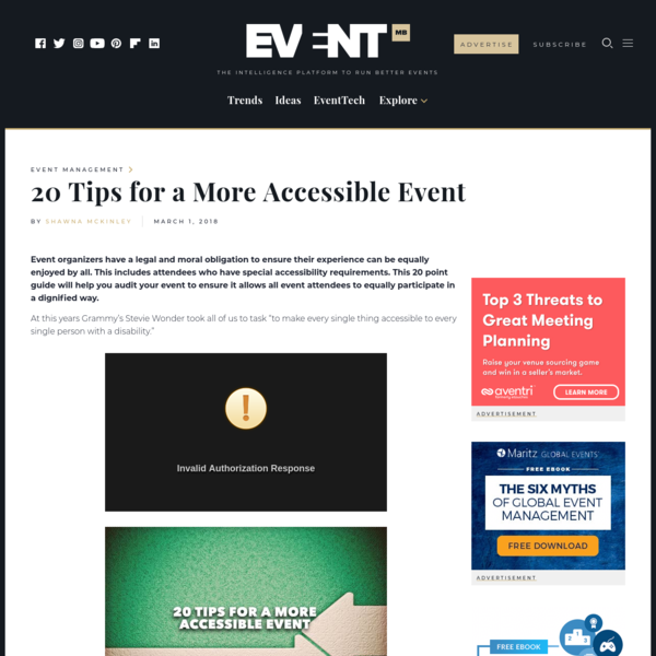 20 Tips for a More Accessible Event