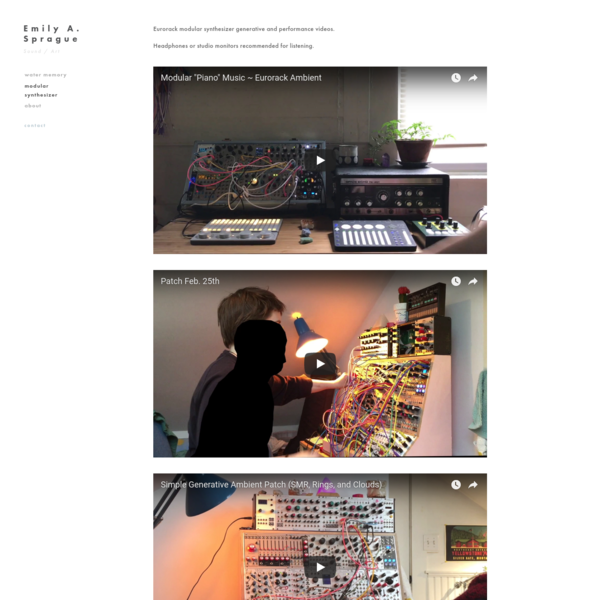 Modular Synthesizer — Emily A. Sprague