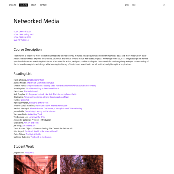 Networked Media - lauren mccarthy