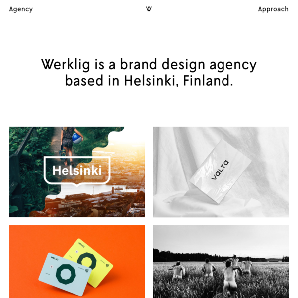 Werklig: brand design agency based in Helsinki, Finland