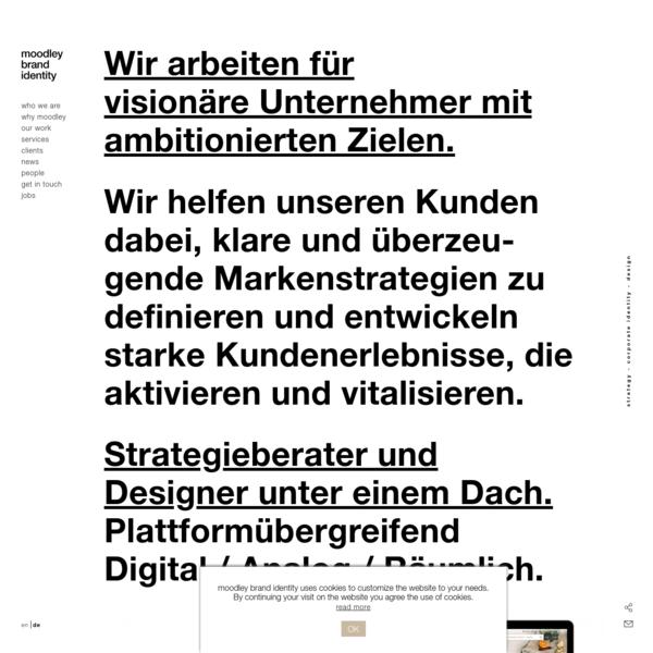moodley brand identity. strategie, design & innovation.
