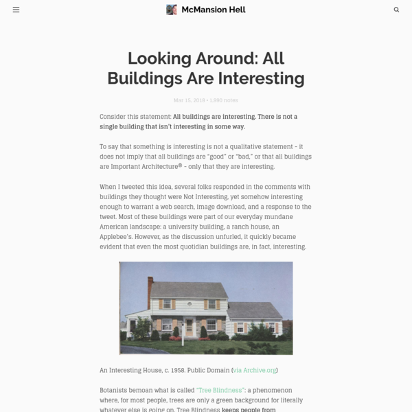 Looking Around: All Buildings Are Interesting