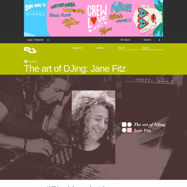 The art of DJing: Jane Fitz