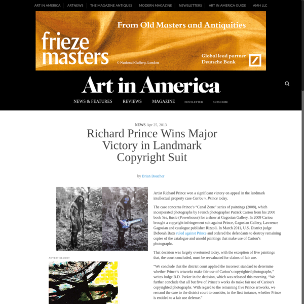 Richard Prince Wins Major Victory in Landmark Copyright Suit - Art in America